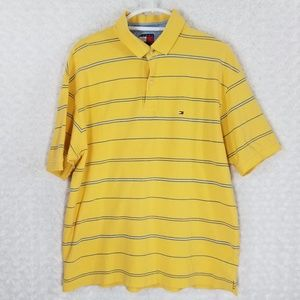 Tommy Hilfiger Yellow and Blue Polo Shirt